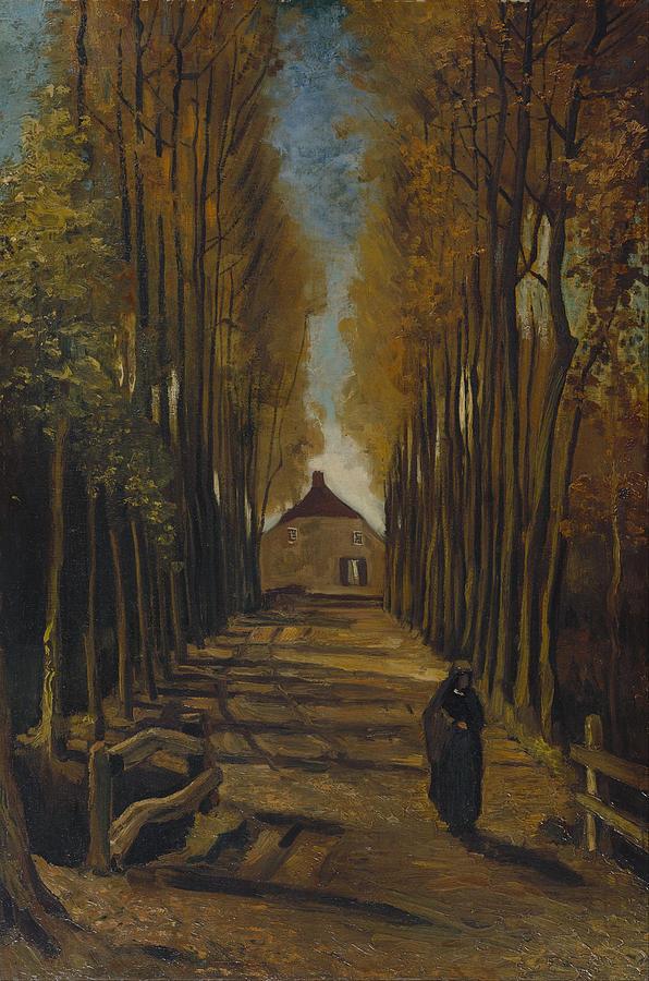 Vincent Van Gogh Painting - Avenue Of Poplars In Autumn by Vincent Van Gogh