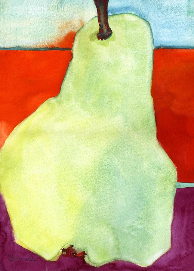 Pear Painting - Avery Style Pear Art by Blenda Studio