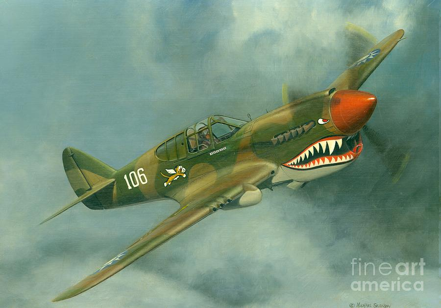 Flying Tigers Painting - Avg Flying Tiger by Michael Swanson