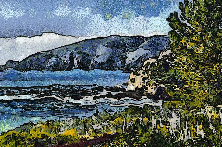 Barbara Snyder Digital Art - Avila Bay California Abstract Seascape by Barbara Snyder