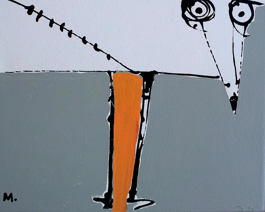 Bird Painting - Avis No 3 by Mark M  Mellon