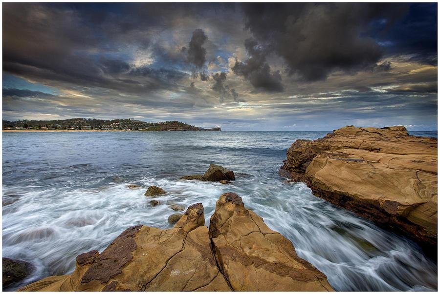 Sky Photograph - Avoca Beach by Steve Caldwell