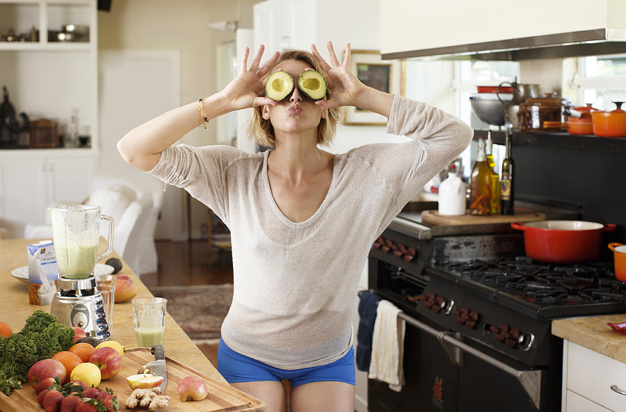 Avocado eyes in kitchen Photograph by Stephanie Rausser