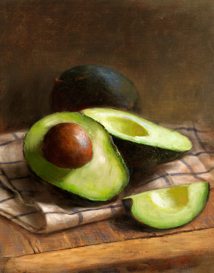 Avocado Painting - Avocados by Robert Papp