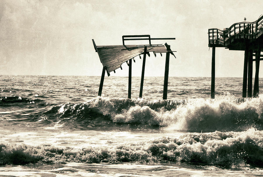 Avon Pier Photograph - Avon Pier North Carolina by Patricia Januszkiewicz