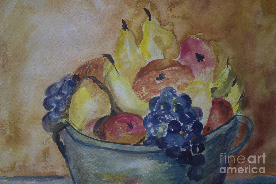 Watercolor Painting - Avonelles Fruit Bowl by Avonelle Kelsey