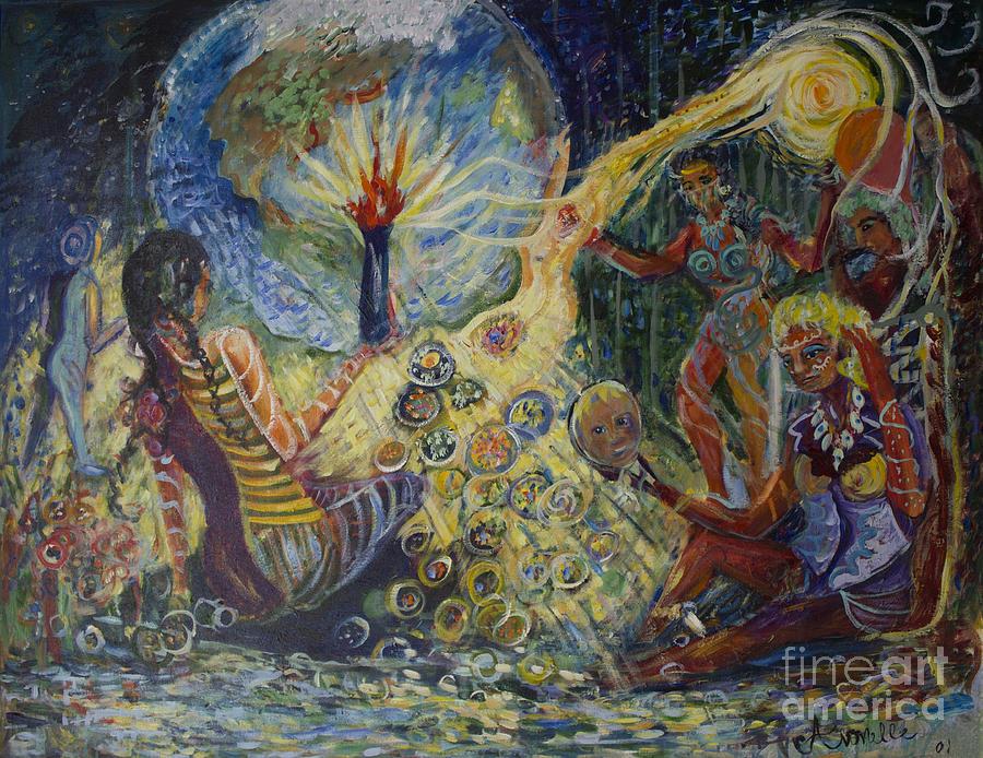 Women Painting - Avonelles Tribe by Avonelle Kelsey