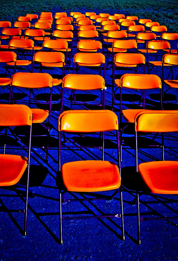 Chairs Photograph - Awaiting an Audience by Jim Painter