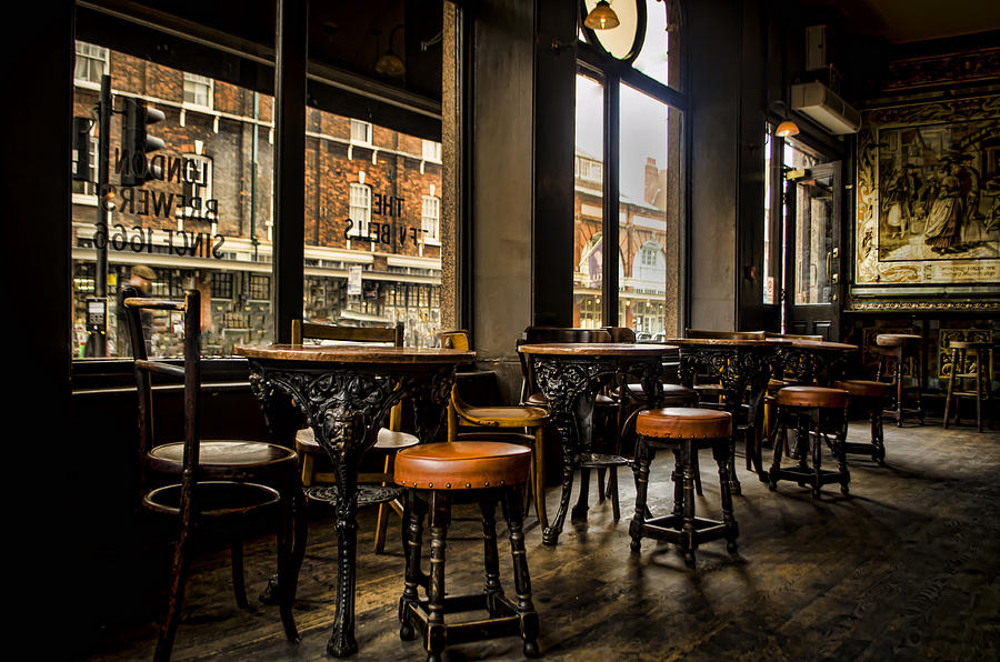 Barstools Photograph - Awaiting Patrons by Heather Applegate
