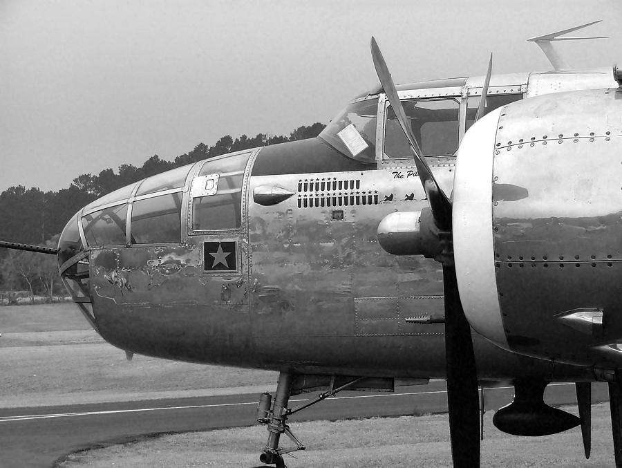 B-25 Mitchell Photograph - Awaiting The Next Sortie by Philip Rispin