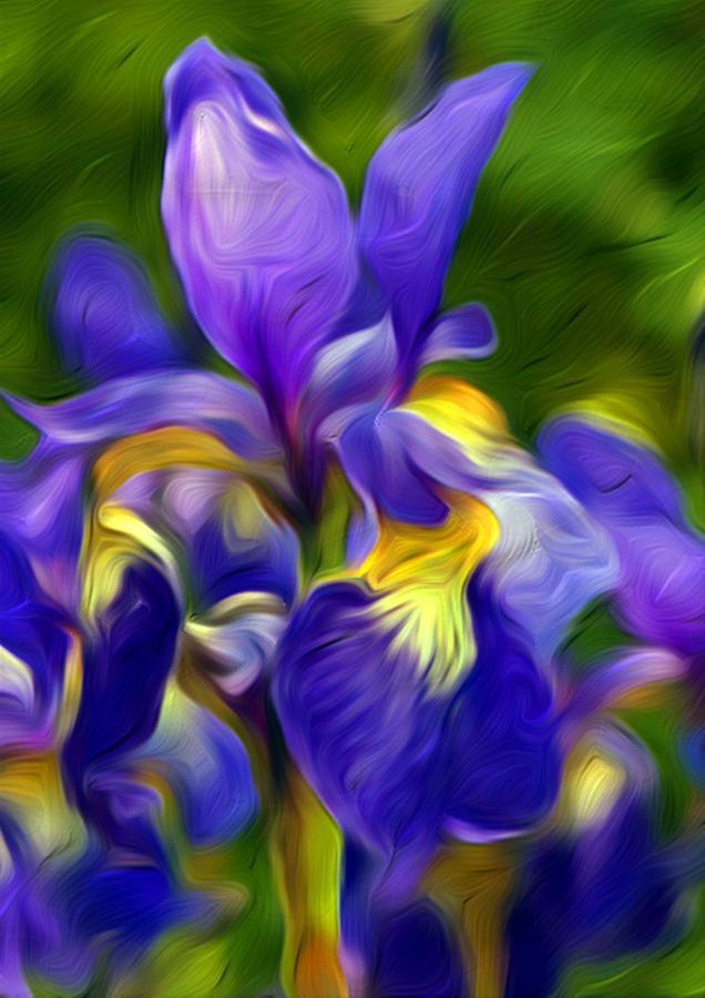 Flower Painting - Awaken by Nelson Bibow