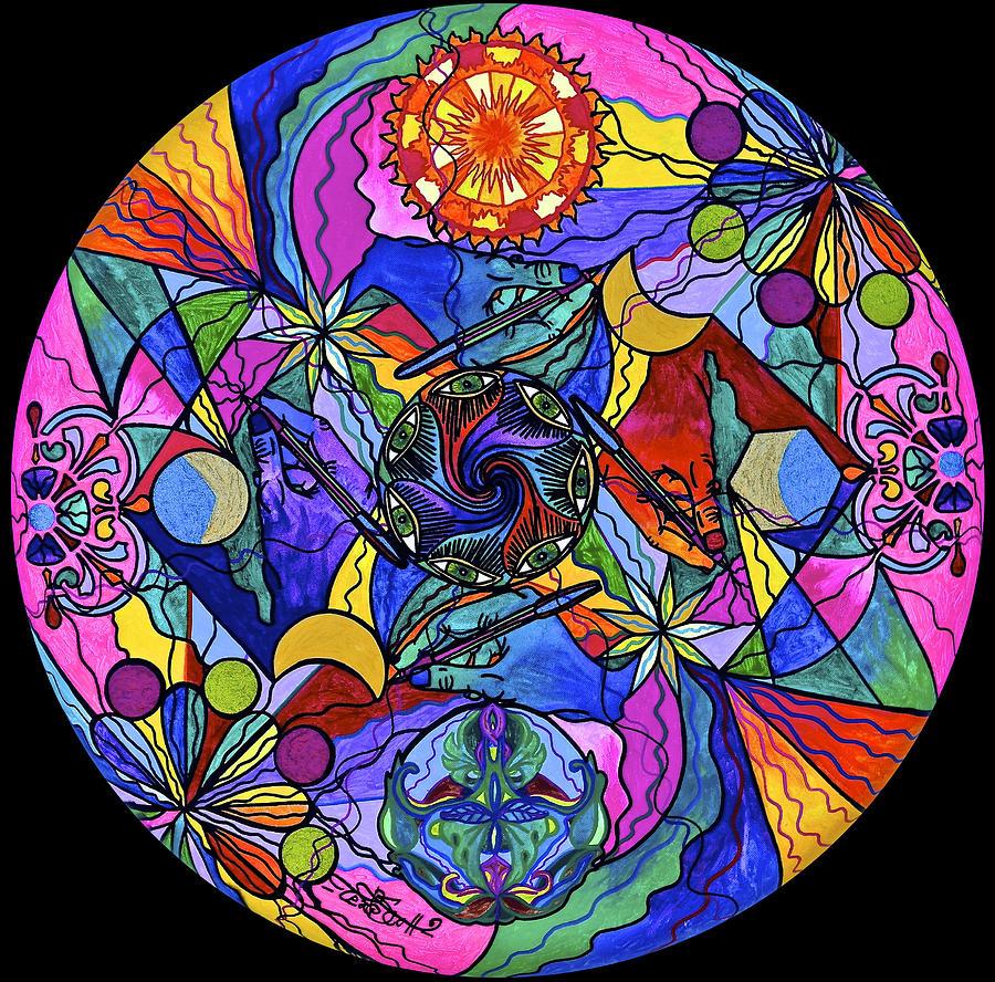 Vibration Painting - Awakened Poet by Teal Eye Print Store
