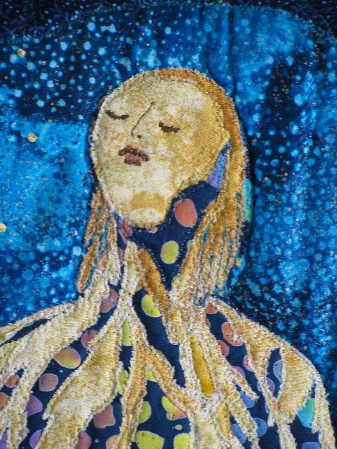 Art Quilts Tapestries - Textiles Tapestry - Textile - Awakening Detail by Lynda K Boardman
