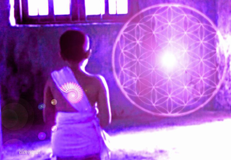 Enlightenment Digital Art - Awakening by Ellen Vaman