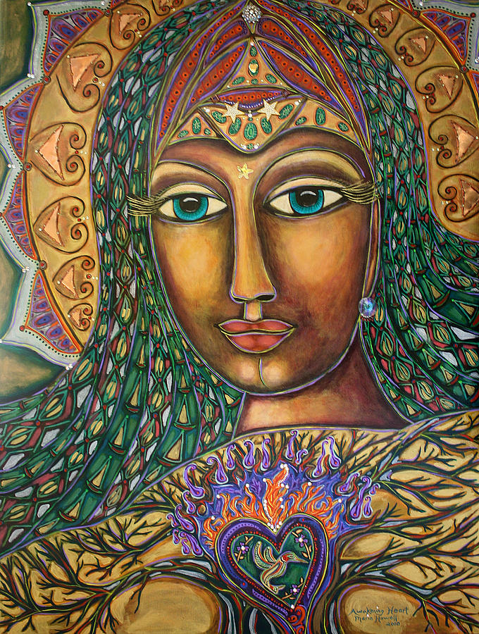 Sacred Feminine Painting - Awakening Heart by Marie Howell Gallery