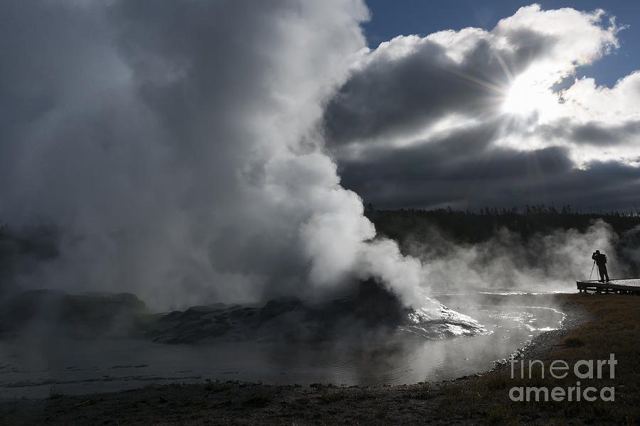 Yellowstone Photograph - Awakening In Yellowstone by Sandra Bronstein