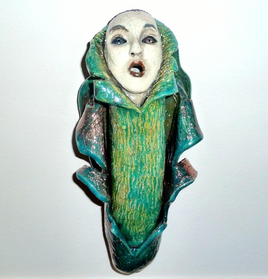 Ceramic Sculpture - Awakening by Satya Winkelman