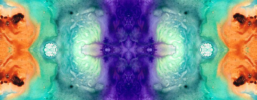 Pattern Painting - Awakening Spirit - Pattern Art By Sharon Cummings by Sharon Cummings