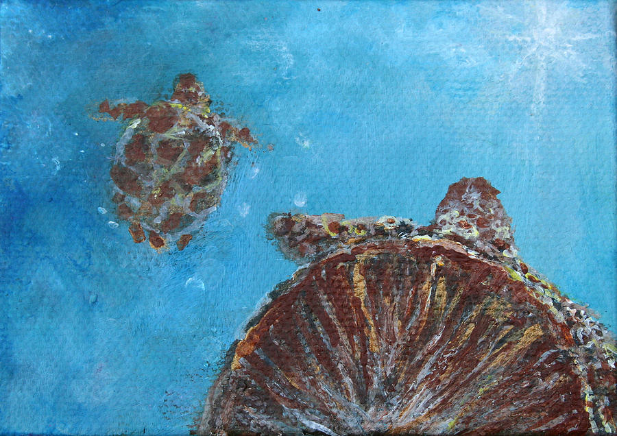 Sea Turtle Painting - Awakening To Opportunities by Ashleigh Dyan Bayer