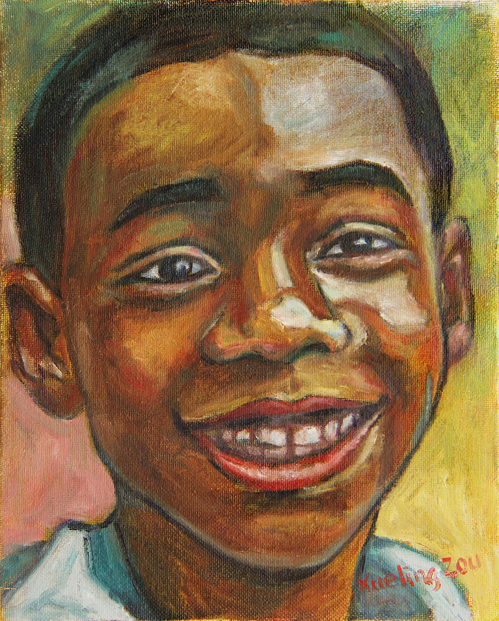 African American Painting - Award Day by Xueling Zou