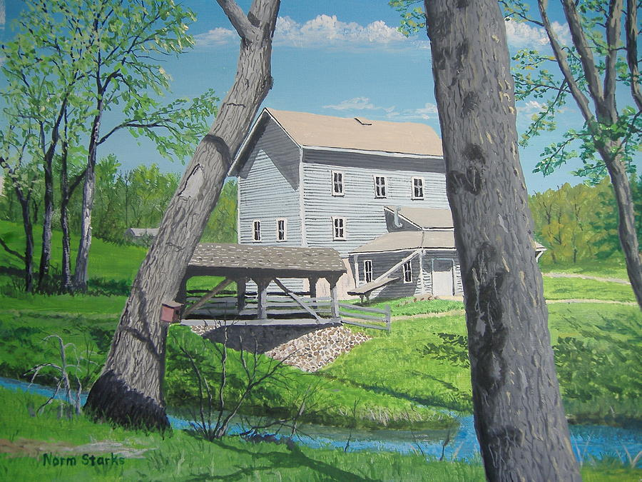 Award-winning Painting - Award-winning Painting Of Beckmans Mill by Norm Starks