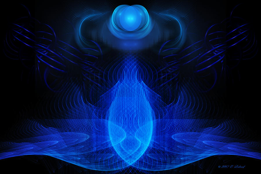 Blue Digital Art - Awareness by Elizabeth S Zulauf
