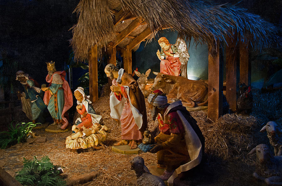 Manger Photograph - Away In The Manger  by Susan  McMenamin