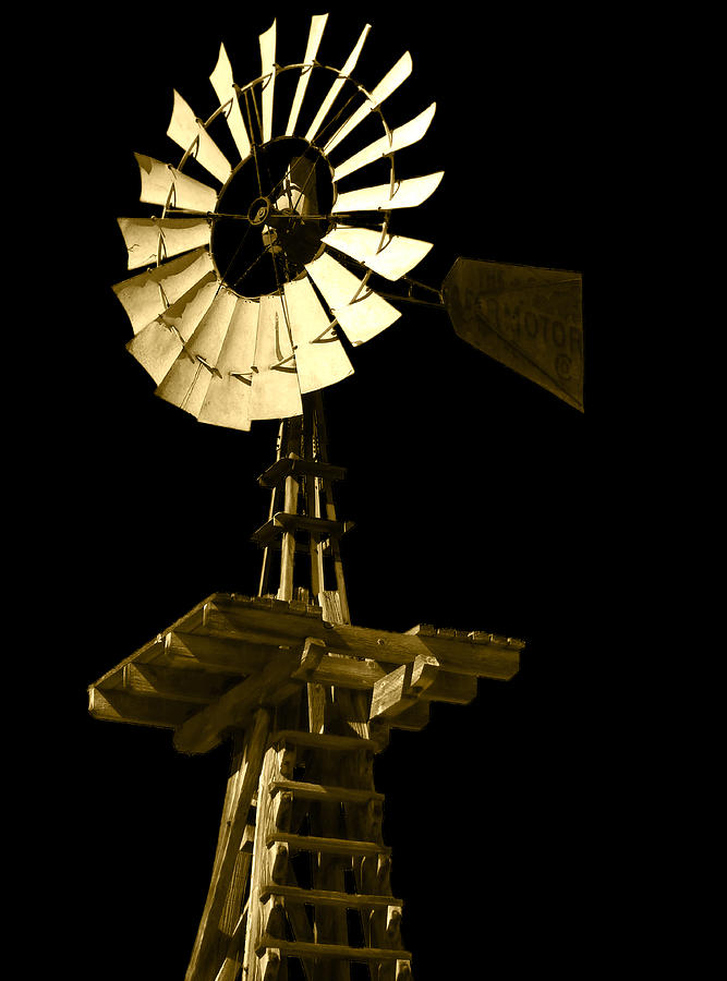 Windmill Photograph - Awesome Aermotor by Anne Mott