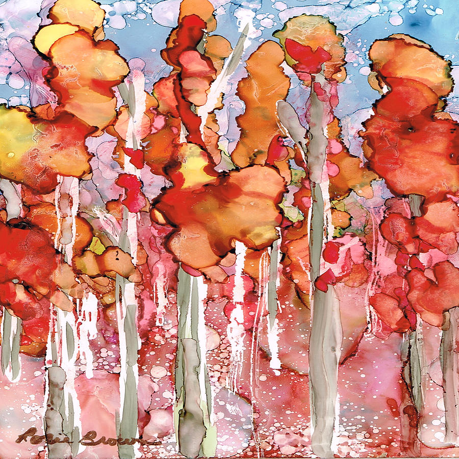 Abstract Painting - Awesome Autumn by Rosie Brown