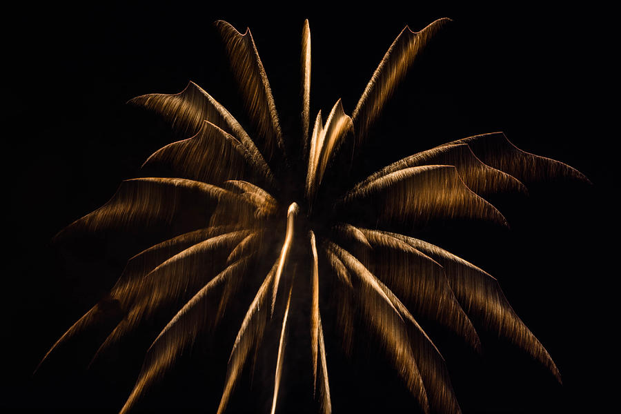 Galveston Photograph - Awesome Orange Fireworks Galveston by Jason Brow