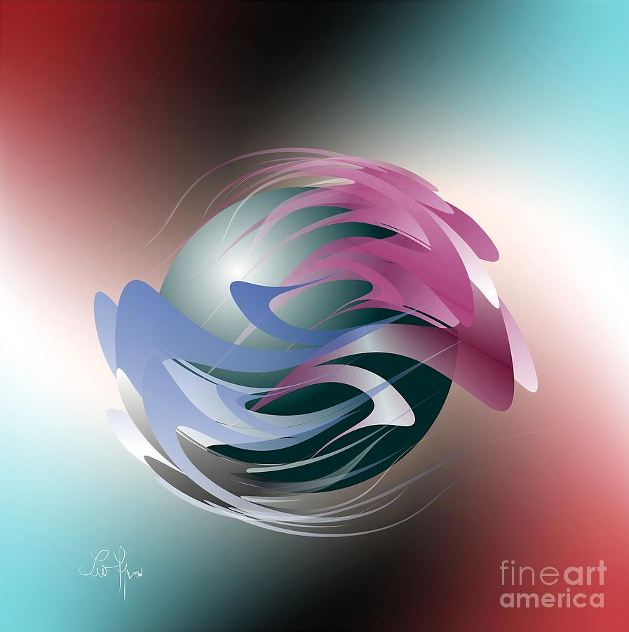 Rotation Digital Art - Axial Rotation by Leo Symon