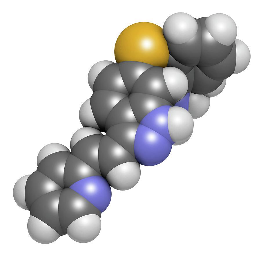 Tyrosine Photograph - Axitinib Cancer Drug Molecule by Molekuul