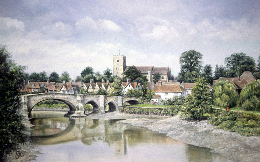 Painting Painting - Aylesford Bridge by Rosemary Colyer