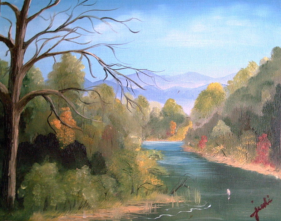 River Landscape Painting - Az High Country by Judi Pence