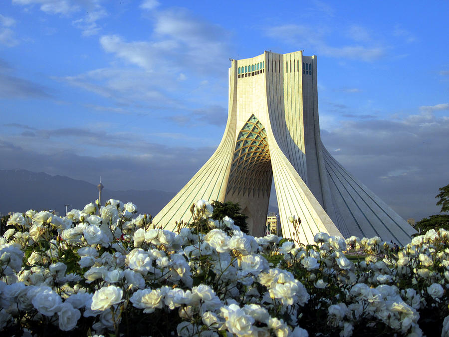 Azadi Tower In Tehran Photograph by Photo By David Stanley