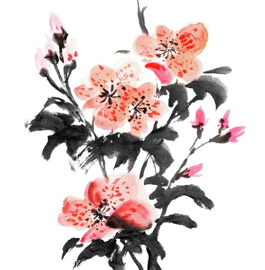 Azalea Flowers Digital Art by Vii-photo