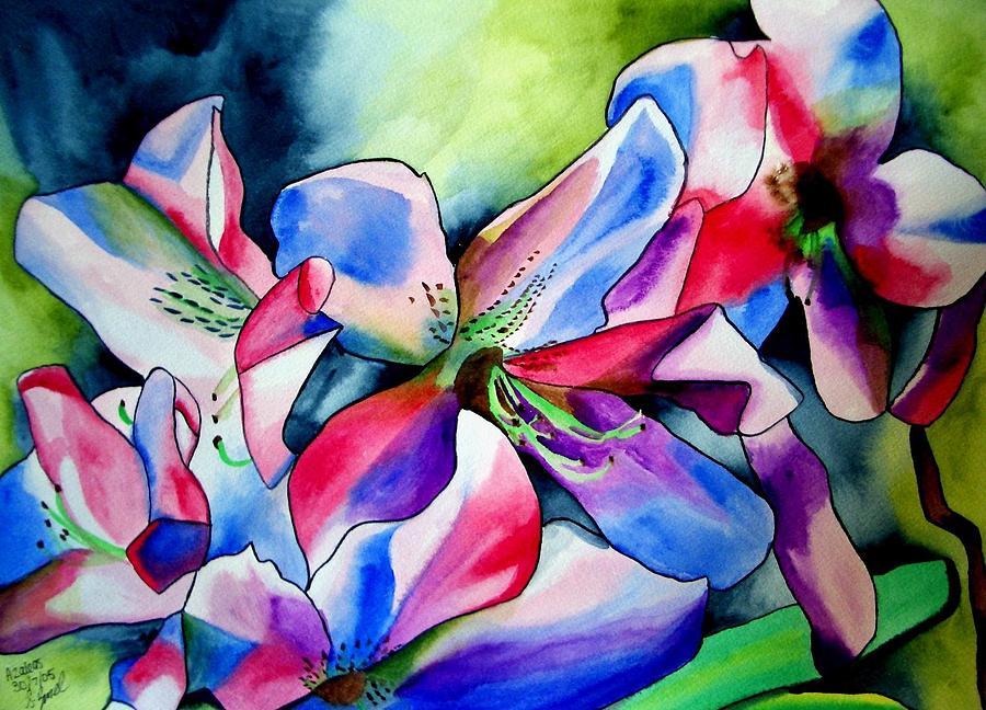Azaleas Painting - Azaleas by Sacha Grossel
