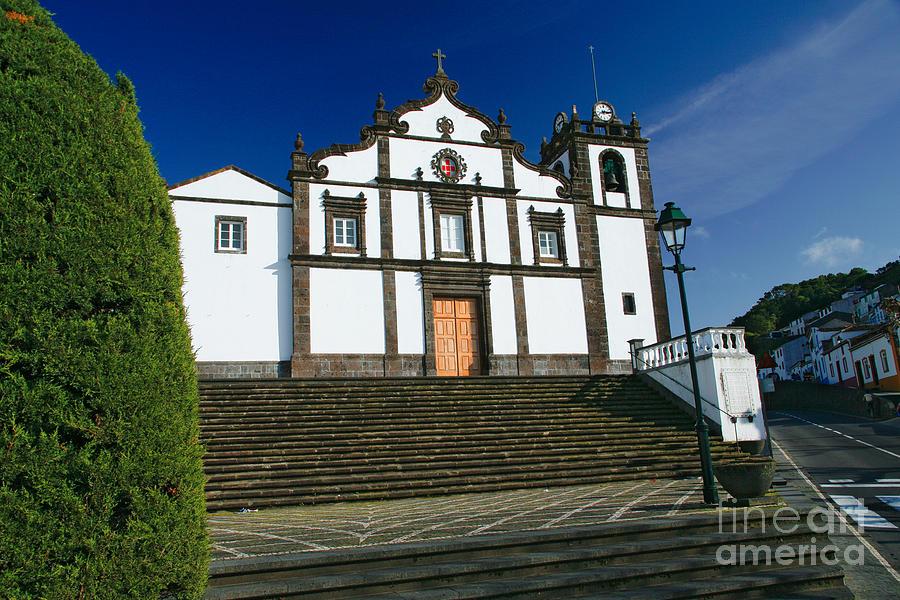 Outside Photograph - Azorean Church by Gaspar Avila