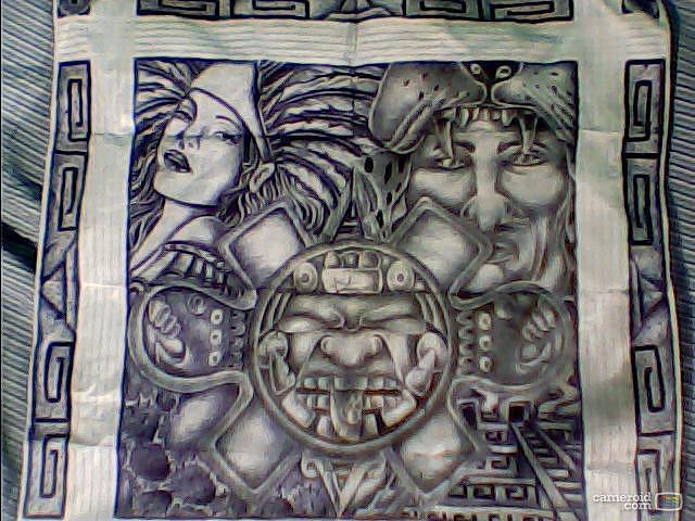 Aztec Drawing by Luis De Leon