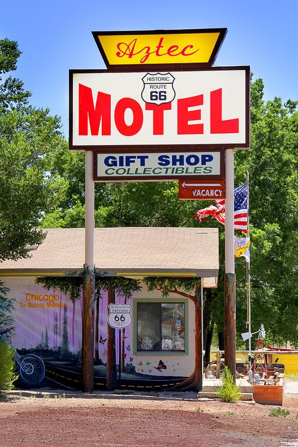 Aztec Motel Photograph - Aztec Motel -  Seligman by Mike McGlothlen