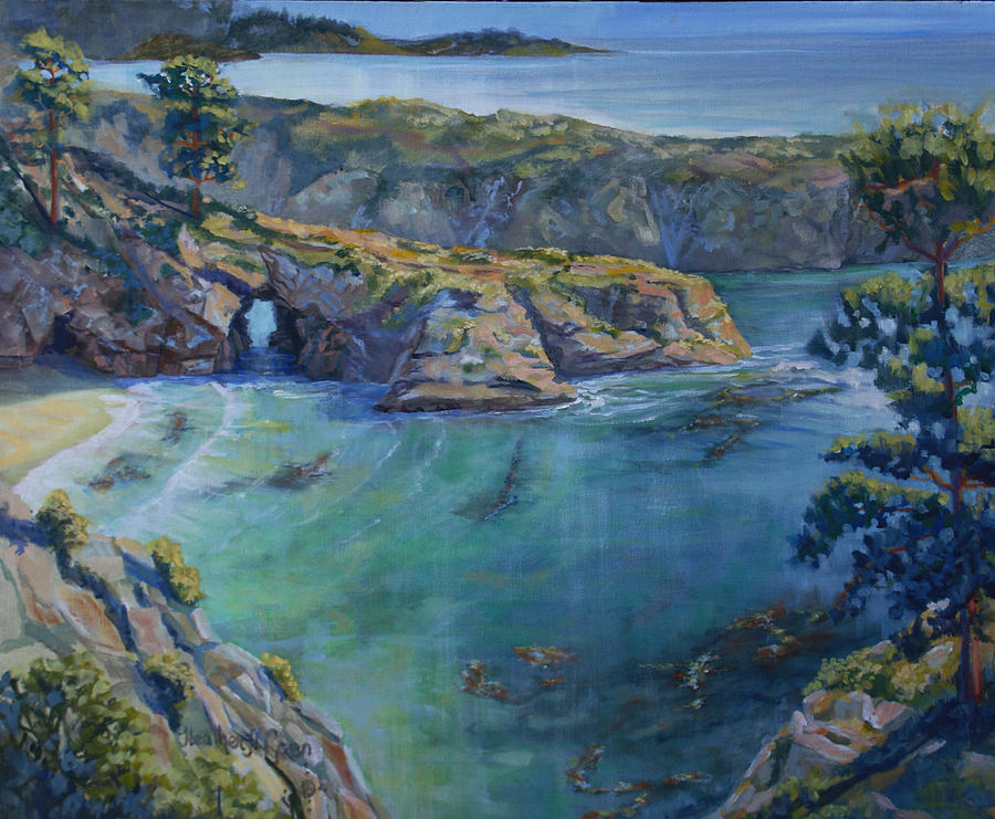 Pacific Ocean Painting - Azure Cove by Heather Coen