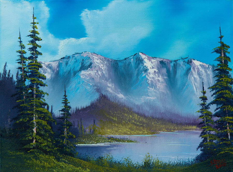 Landscape Painting - Azure Ridge by C Steele