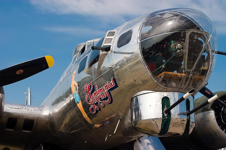 Aeroplane Photograph - B-17 Flying Fortress by Adam Romanowicz