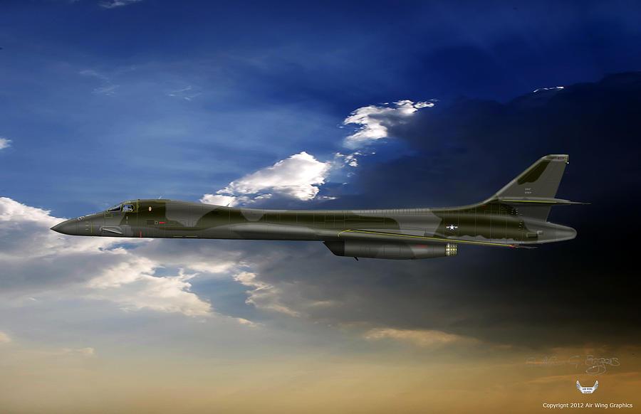B-1b Digital Art - B-1b Lancer by Arthur Eggers