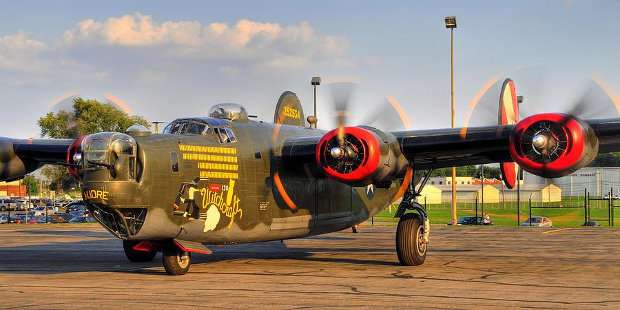 Bomber Photograph - B-24j by Dan Myers