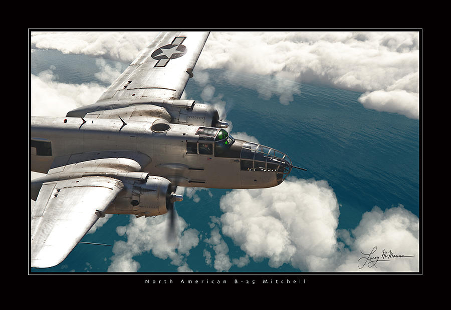 B-25 On Patrol Photograph by Larry McManus
