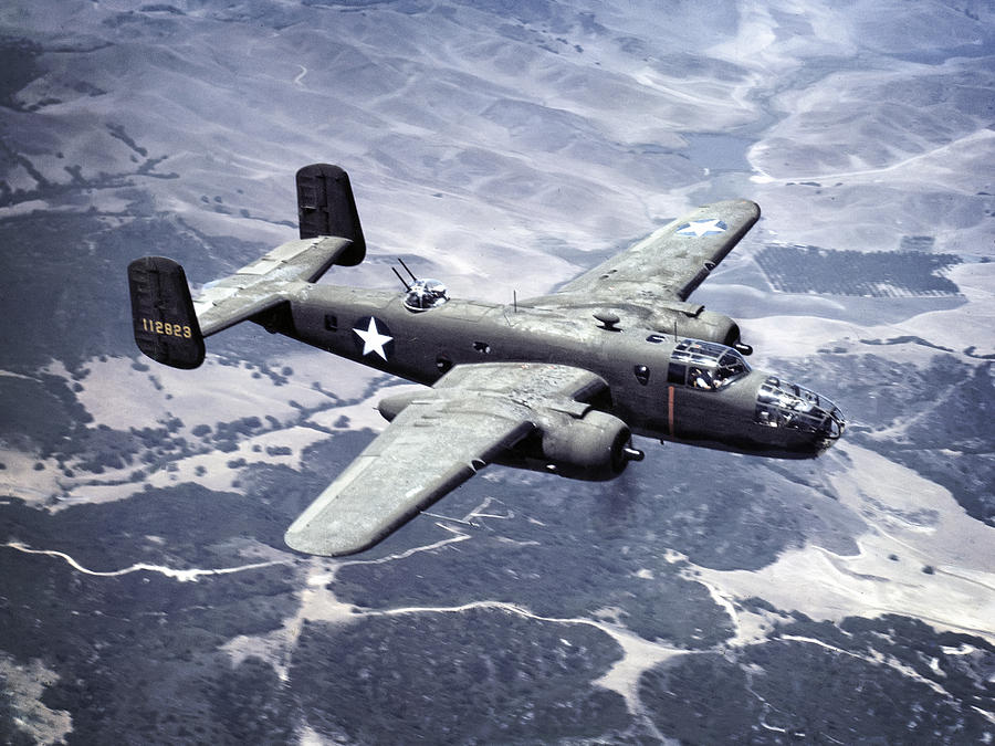 B-25 Photograph - B-25 World War II Era Bomber - 1942 by Daniel Hagerman