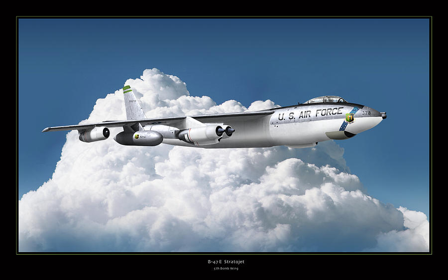 World War Ii Planes Photograph - B-47 Stratofortress by Larry McManus