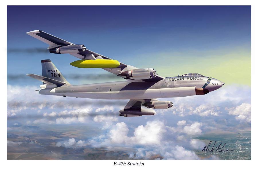 Boeing Painting - B-47e Stratojet by Mark Karvon