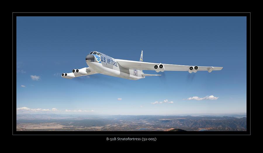 B-52b Stratofortress Photograph by Larry McManus